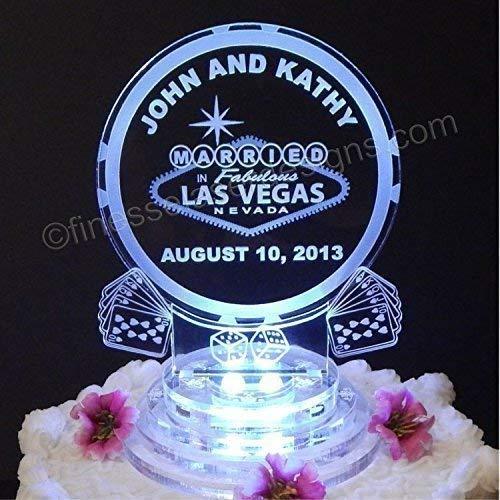 Astonishing Amazon Com Personalized Las Vegas Poker Chip Led Birthday Cake Birthday Cards Printable Inklcafe Filternl