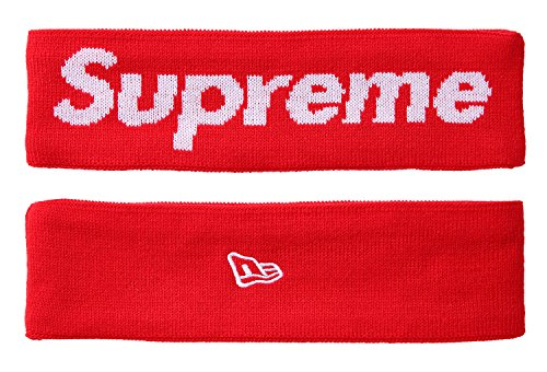 The Mass Sweatband Headband Perfect for Basketball, Running, Football, Tennis-Fits for Men and Women (Supreme - Red)
