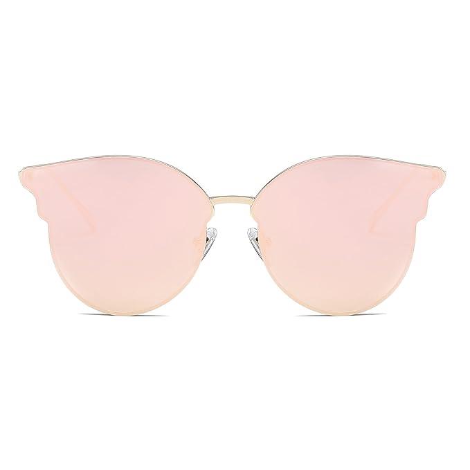 SOJOS Gafas De Sol Para Mujer Modernas Retra Forma Pantos Lentes Redondas Espejo SJ1055
