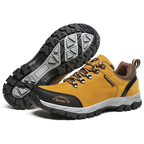 Sutura con Plano tacón Otoño de Agua Verano para Doblar para con atléticos Resistente Refuerzo al Zapatos Planos Zapatos Cordones Deportivos Hombres Doble 2018 Marrón wzPqwCH