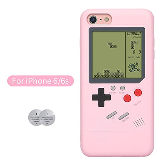 check out e74e2 6264d iPhone 6 Game Case Playable Tetris Game Boy Game Case for iPhone 6S Shell  TPU Silicone Protective Cover Retro Gameboy iPhone Case (iPhone 6 / 6S - ...