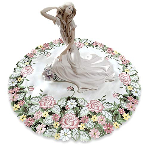 - Galleria di Giovanni Embroidered Pink Rose Large 23