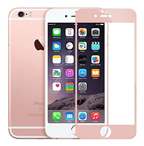 iPhone 6S Plus Screen Protector, Rock [3D Touch Compatible] Full Coverage Tempered Glass iPhone 6 Plus / 6S Plus 5.5 inch Oil Resistant Screen Protector with Camera Lens Protector (Rose Gold)