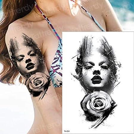 3pcsFlor Brazo Pegatinas de Tatuaje a Prueba de Agua niña Mujer ...