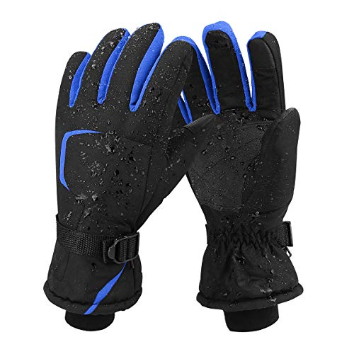 (Keegud Ski Gloves Winter Warm Snow Gloves Waterproof Windproof Skiing Snowboarding Snowmobile Cold Weather Gloves for Men and Women)