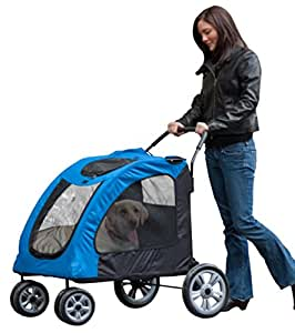 Pet Gear Expedition Pet Stroller for cats and dogs up to 150-pounds, Blue Sky