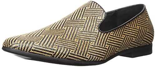 Giorgio Brutini Mens Clement Mocassino Slip-on Nero / Naturale
