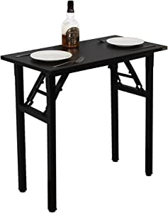 Need Computer Desk for Small Space Small Folding Table Small Writing Desk Compact Desk Foldable Desk with BIFMA Certification No Install Needed Black AC5CB-100-60