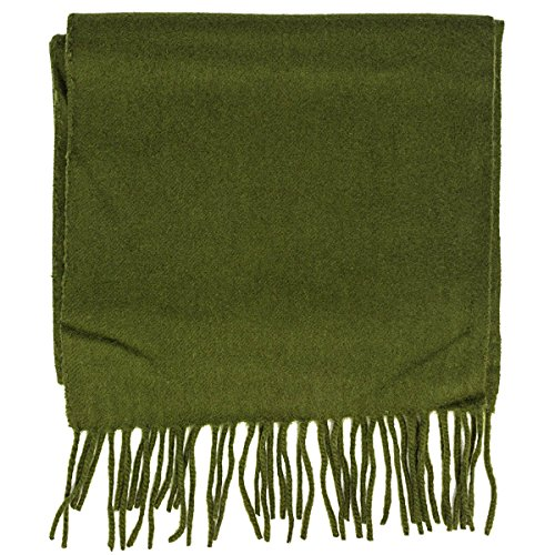 coach mens cashmere wool blend SOLID winter scarf in khaki ()