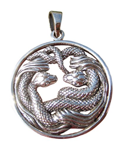 925 Silver Snake Pendant Necklace Thailand jewelry Art A26 Cobra Snake Pendant Jewelry