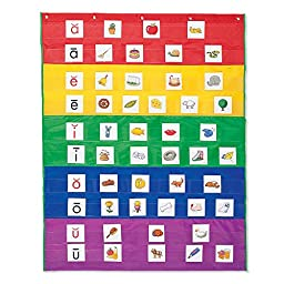 Rainbow Pocket Chart, Nylon