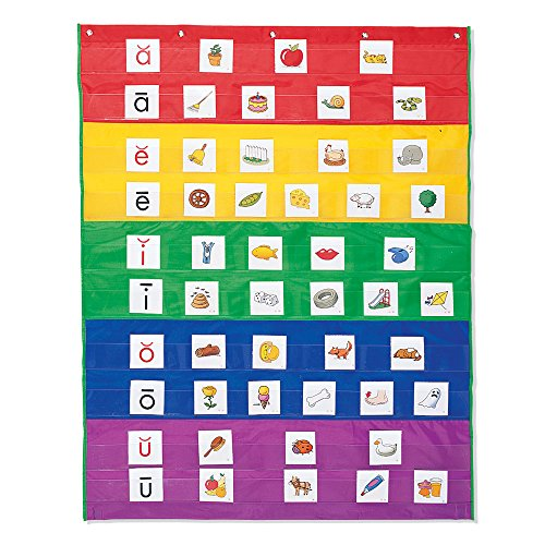 Learning Resources Rainbow Pocket Chart, Nylon