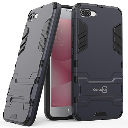 Asus Zenfone 4 Max Case (5.5) ZC554KL, Zenfone 4 Max Pro Case, CoverON Shadow Armor Series Modern Style Slim Hard Hybrid Phone Cover with Kickstand for Asus Zenfone 4 Max/Zenfone 4 Max Pro - Navy