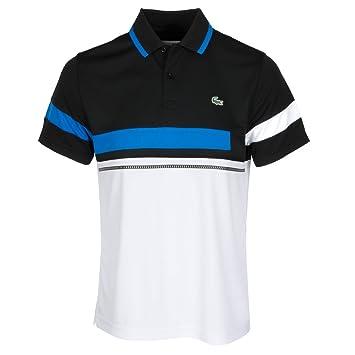 198d0e7c Lacoste Colour Block Polo Shirt Black/Blue/White 7: Amazon.co.uk ...