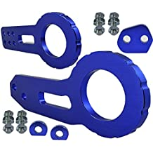 ICBEAMER Racing Style Anodized CNC Aluminum Tow Hook Kit Come with Front and Rear Tow Hook Screw [Color: Blue]