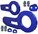 xv crosstrek tow hook - ICBEAMER Racing Style Anodized CNC Aluminum Tow Hook Kit Come with Front and Rear Tow Hook Screw [Color Blue]