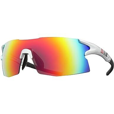 3dea6377f9 Amazon.com  Bliz Active Tempo Wrap Sunglasses Shiny Silver Rubber ...