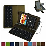 Mama Mouth Rotary Stand PU Leather Case Cover With Removable Micro USB Keyboard for 7
