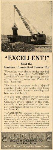 1924 Ad American St. Paul Hoist Derrick Company Locomotive Cranes Minnesota - Original Print Ad by PeriodPaper...