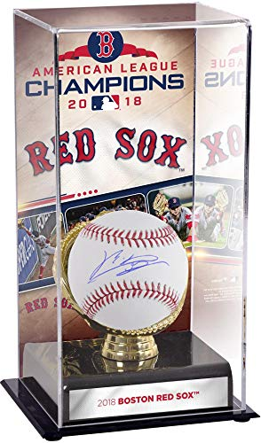 Rafael Devers Boston Red Sox Autographed Baseball and 2018 American League Champions Sublimated Display Case with Image - Fanatics Authentic Certified