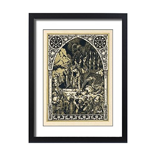 Framed 24X18 Print Of Child Offered To Satan (598271) by Prints Prints Prints