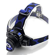 ZWC CREE Q5 LED Zoomable headlamp headlight lamp torch miner mining lamp light battery+charger 2000Lms 5W -Blue