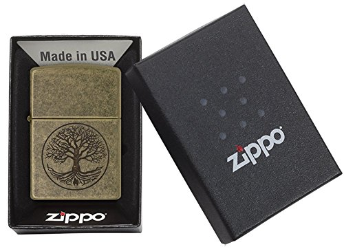Zippo Antique Brass Eternal Tree of Life Lighter