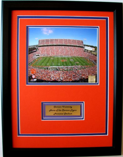 Memorial Portrait - NCAA Clemson Tigers Memorial Stadium Framed Portrait Photo with Nameplate