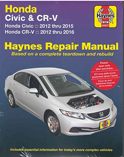 Honda Civic (12-15) & CR-V (12-16): Does not include information specific to CNG or hybrid models (Haynes Automotive) (Haynes Auto Manuals)