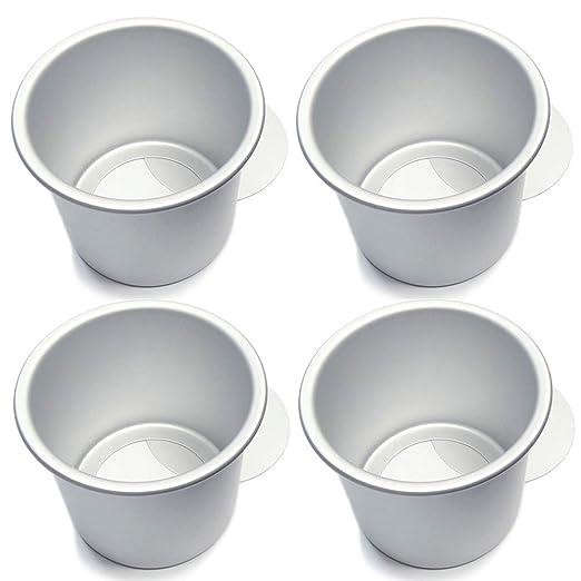 FRFJY Molde para Hornear Redondo de Aluminio de 4 Pulgadas con ...