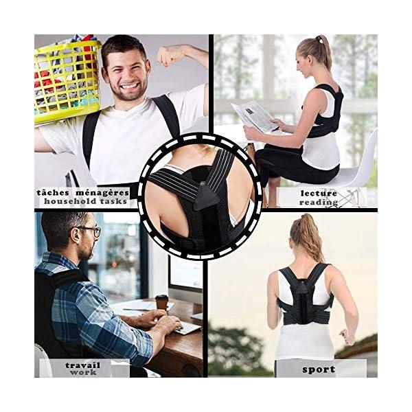 TRAINEATWELL- Kit Redresse Dos Correcteur de Posture Correcteur Dos. Maintien du Dos, du Cou et des épaules. Ceinture…