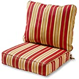 Greendale Home Fashions Deep Seat Cushion Set, Roma Stripe