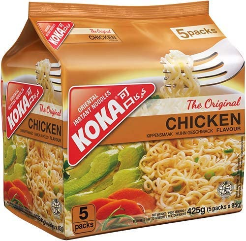 Koka Oriental Instant Noodles The Original Chicken Flavour (Pack of 5 x 85g): Amazon.in: Grocery & Gourmet Foods