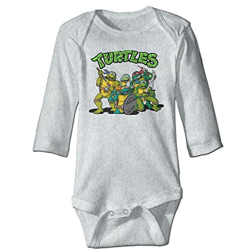 Raymond Turtles Long Sleeve Baby Climbing Clothes Ash 24 Months - Ninja Turtle Make Your Own Costume