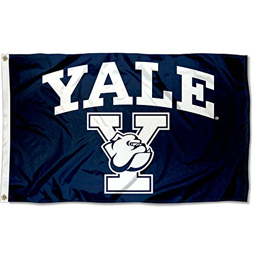 College Flags and Banners Co. Yale Bulldogs Athletic Logo Flag