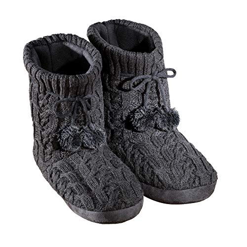 NEW Women Sizes SMALL 5-6  XL 11-12 Cable Knit Furry Fuzzy Fair Isle SLIPPERS