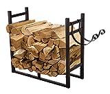 Pazinga 3-Feet Heavy Duty Firewood Log Rack ,Indoor Outdoor Firewood Holder