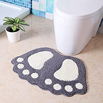 Amazoncom HUAHOO Big Feet Bath Toilet Mat Area Rugs Carpet Doormat