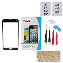 YGDZ Premium Screen Glass Lens Replacement & Repair Kit (Glass only - digitizer not included) For Samsung Galaxy S5 G900 G900A G900P G900R4 G900T G900V - Black (SHIP FROM CA)