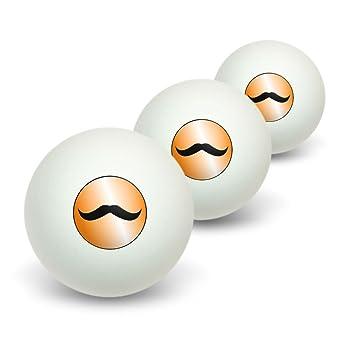 Bigote gracioso naranja - tenis de mesa PING PONG BOLA 3 unidades ...