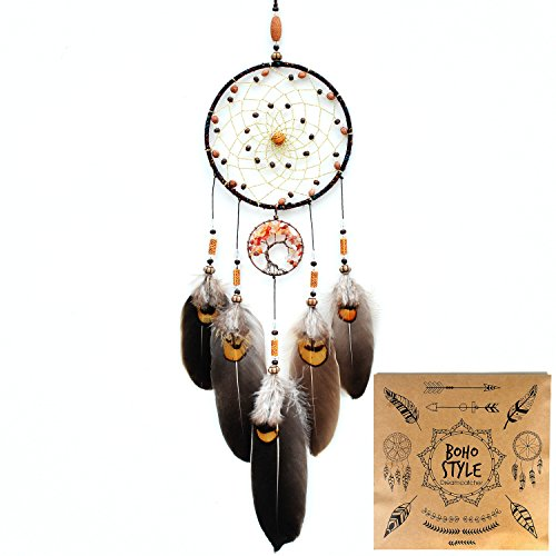 "Littlear Dream Catcher Handmade Tree of Life Dream Catchers with Feathers Wall Hanging Home Decor Dia 5.1""(NO.17)"