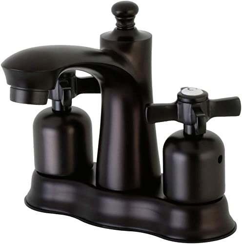 Kingston Brass FB7615ZX Millennium 4-Inch Center set Lavatory Faucet with Retail Pop-Up, Oil Rubbed Bronze
