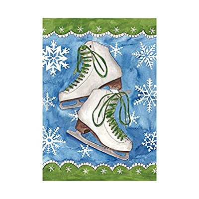 Christmas House Flag White Skate Shoes Banner Outdoors Flags Of Double Sided Waterproof And Fade Resistant Printed banners 12.5 X 18 Inch 100% Polyester