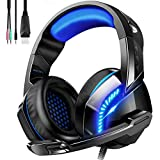 Gaming Headset for PS4 PC Xbox One, Noise Canceling Headphones with Mic Volume