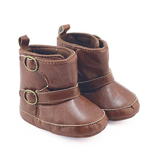 Short PU Leather Martin Boots (Coffee) - 7