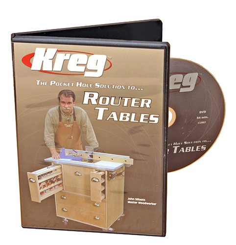 - Kreg V06-DVD-Pocket Hole Joinery DVD, Building a Router Table