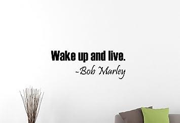 LARGE QUOTE BOB MARLEY TAKE EASY  WALL STICKER DECAL MATT VINYL BEDROOM