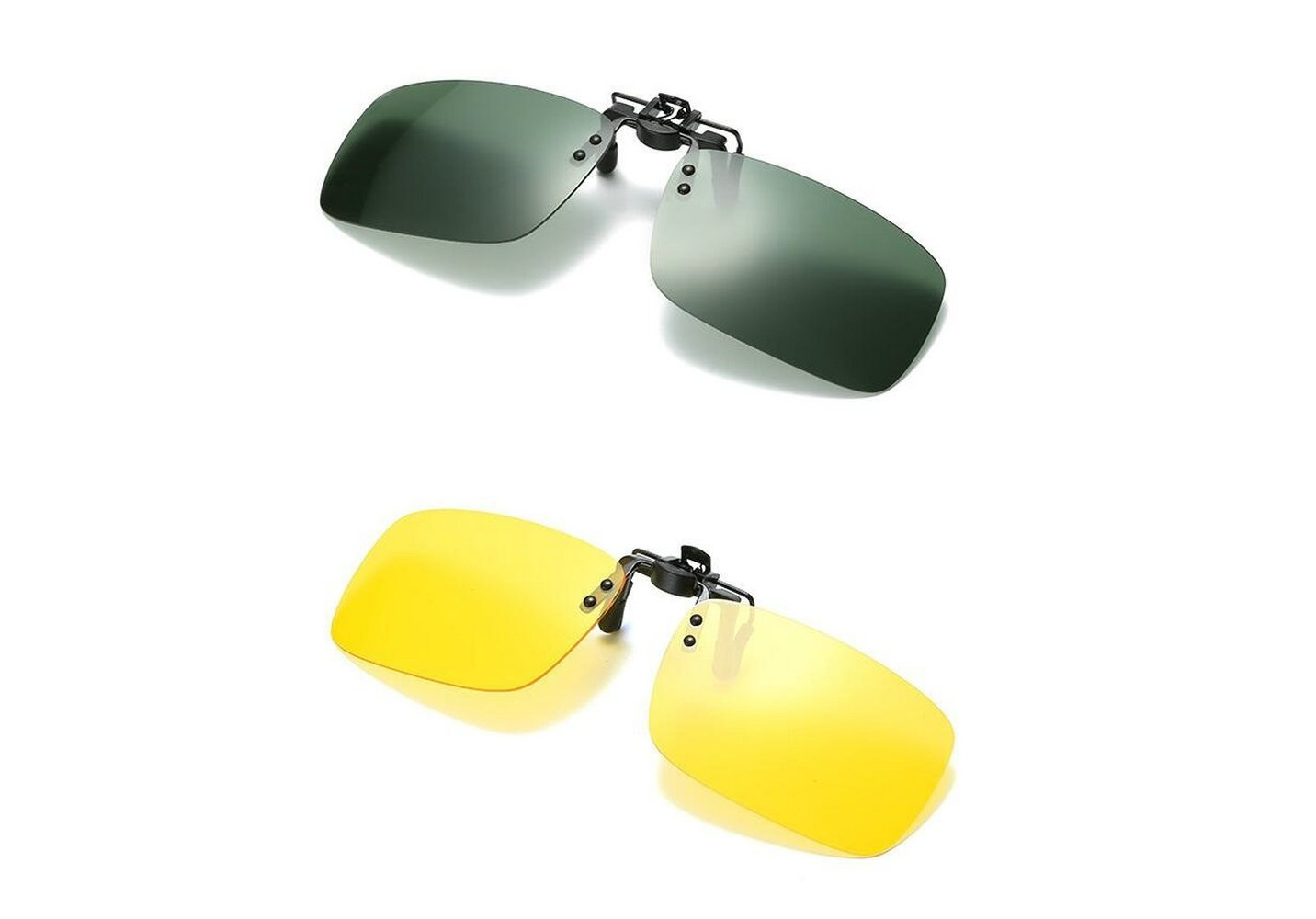 974f6c0680 Galleon - 2PCS Polarized Day Night Vision Flip-up Clip-on Lens Driving  Glasses Sunglasses For Man And Women