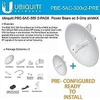 Ubiquiti PowerBeam 5ac PBE-5AC-300 2-PACK PRE-CONFIGURED 22dBi airMAX 20+km