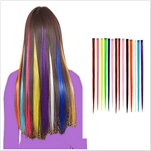 Amazon opcc bundle 12 pieces of 22 inches multi colors party amazon opcc bundle 12 pieces of 22 inches multi colors party highlights colorful clip in synthetic hair extensions hairpieces 1pcs opcc sticky notes pmusecretfo Image collections
